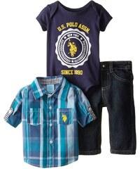 U.S. Polo Assn. oblečení pro miminko Plaid Shirt, Denim