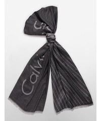 Calvin Klein pánská šála Lightweight diagonal stripe