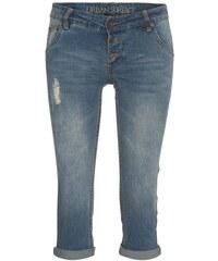 COOL CODE Damen Jeans Hose 3/4Länge blau aus Baumwolle