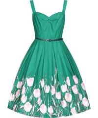 Retro šaty Lindy Bop Bernice Turquoise Tulip