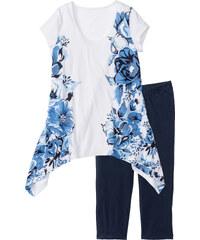 bpc bonprix collection Pyjama corsaire bleu manches courtes lingerie - bonprix