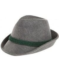 Distler Damen Hut Krempenbreite 5 cm grau mit Wolle