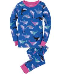 Hatley Dívčí pyžamo s velrybami - modré