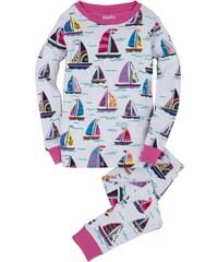 Hatley Dívčí pyžamo s lodičkami - bílé