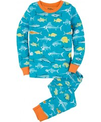 Hatley Chlapecké pyžamo s rybičkami - modré