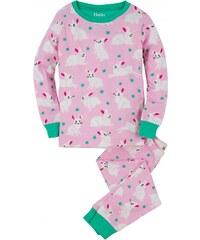 Hatley Dívčí pyžamo s králíčky - růžové