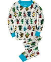 Hatley Chlapecké pyžamo s barevnými broučky - bílé