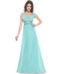 Ever Pretty šaty dlouhé elegantní tyrkysové 8697 8bdf378234