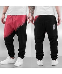 Dangerous DNGRS Two Tone Sweat Pants Red/Black