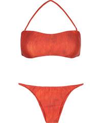 Lenny Niemeyer Bikini Bandeau Orange, Multiples Liens Au Dos - Detailed Back Bandeau Seamless Bikini