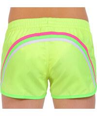 SUNDEK fluo yellow taffetta nylon swim shorts
