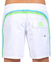 SUNDEK elastic waistband long swim shorts