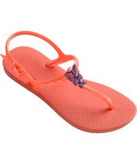 Havaianas Sandale Tongs Sandales Corail Pour Fille Avec Noeuds Violets - Kids Freedom Vitamina