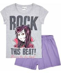 Disney Descendants Shorty-Pyjama violett in Größe 140 für Mädchen aus 100% Baumwolle