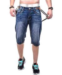 Lesara Jeansshorts mit Hosenträgern - 29