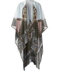 Cecil Ornamentprint-Poncho - greige, Herren