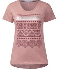 Cecil - T-shirt rayé décoratif - rose beryl