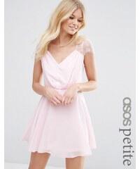 ASOS PETITE - Kate - Mini-robe en dentelle - Rose
