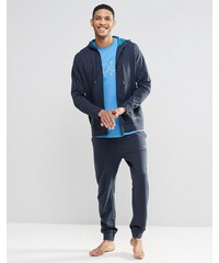 BOSS By Hugo Boss - Pantalon de jogging resserré aux chevilles coupe classique - Bleu marine - Bleu marine
