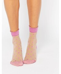 Pretty Polly - Chaussettes à pois - Rose - Rose