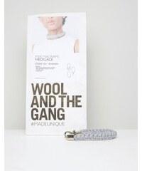 Wool and the Gang Wool & The Gang Set zum Selbermachen für eng anliegendes Halsband aus Mixi-Makramee - Grau