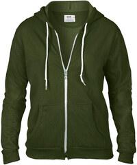 Dámská mikina Fashion s kapucí - Vojenská zelená S