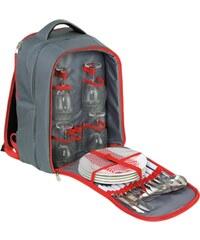 Cilio piknikový batoh Garda, šedo-červený