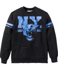 bpc bonprix collection Sweatshirt mit College Druck, Gr. 116/122-164/170 langarm in schwarz für Jungen von bonprix