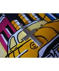 Stříbrný přívěs plochý kříž