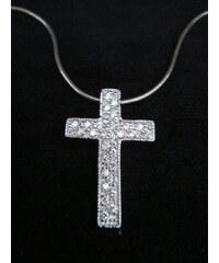 Stříbrný zirkonový křížek