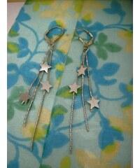 Stříbrné řetízkové náušnice STAR