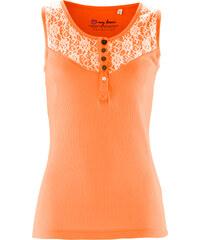 bpc bonprix collection Top à dentelle orange sans manches femme - bonprix
