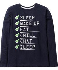 bpc bonprix collection T-shirt manches longues imprimé, T. 116/122-164/170 bleu enfant - bonprix