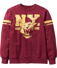 bpc bonprix collection Sweat-shirt imprimé Campus, T. 116/122-164/170 rouge manches longues enfant - bonprix