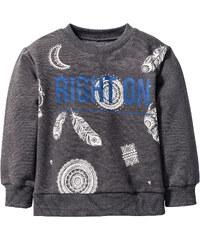 bpc bonprix collection Sweat-shirt, T. 80/86-128/134 gris manches longues enfant - bonprix