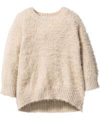 bpc bonprix collection Pull duveteux, T. 80/86-128/134 beige manches longues enfant - bonprix