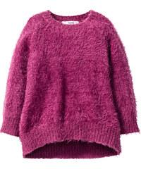 bpc bonprix collection Pull duveteux, T. 80/86-128/134 violet manches longues enfant - bonprix
