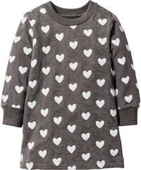 bpc bonprix collection Robe sweat-shirt, T. 80-134 gris manches longues enfant - bonprix