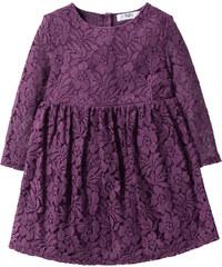 bpc bonprix collection Kleid mit Spitze, Gr. 80-134 langarm in lila von bonprix