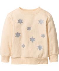 bpc bonprix collection Sweatshirt mit Glitzerdruck, Gr. 80/86-128/134 langarm in orange für Mädchen von bonprix