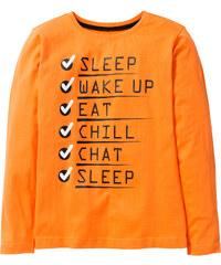 bpc bonprix collection Langarmshirt mit witzigem Druck, Gr. 116/122-164/170 in orange für Jungen von bonprix