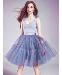 Manifiq&Co. Tylová sukně Charlotte, popelavá
