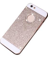 Lesara Glitzer-Schutzhülle für Apple iPhone 5/s + 6/s - Gold - iPhone 5