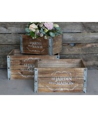 Chic Antique Dřevěný box Le Jardin Velikost S
