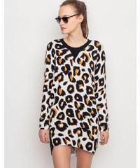 Svetr Somedays Lovin JAGGER LEOPARD PRINT KNIT DRESS leopard