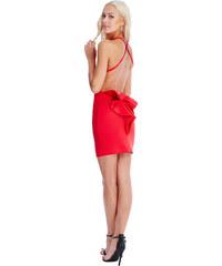 Goddiva Červené šaty Rabana 233732c9d8