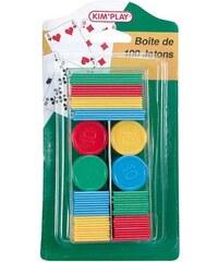 Kim'Play Boîte de 100 jetons - multicolore