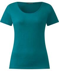 Street One - T-shirt à encolure arrondie biologique Clia - paradise green