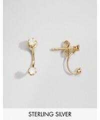 ASOS - Mini boucles d'oreilles balanciers en argent massif plaqué or - Doré