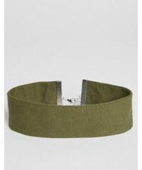 ASOS - Large collier ras du cou en jersey - Vert
